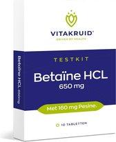 Vitatkruid Testkit Betaine HCL 650 mg & pepsine 160 mg - 10 tabletten