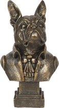 Clayre & Eef | Decoratie hond 14*11*15 cm | Goudkleurig | Polyresin | Hond | 6PR2861