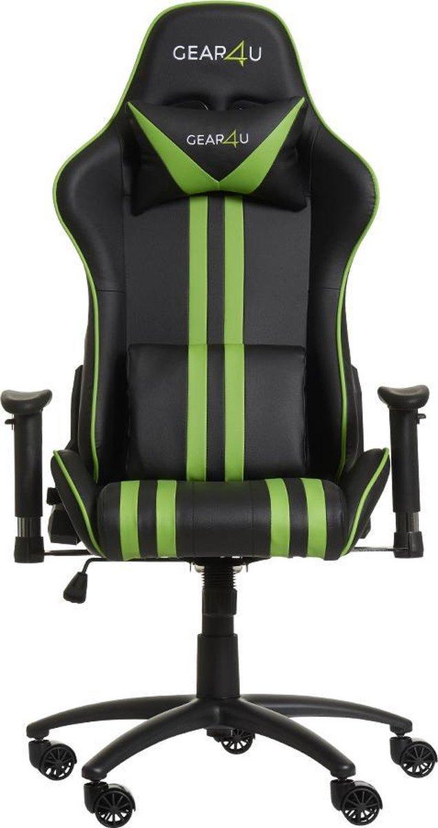 Gear4U Elite gaming stoel - gamestoel / game stoel - zwart / groen