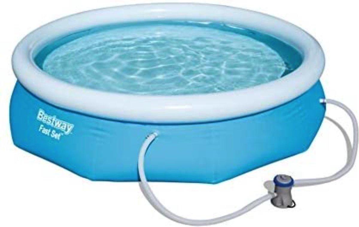 Bobby's opblaasbaar zwembad - Familiezwembad - Pool set - Rond - Complete set - Zwembaden - 305 x 76 cm - Blauw