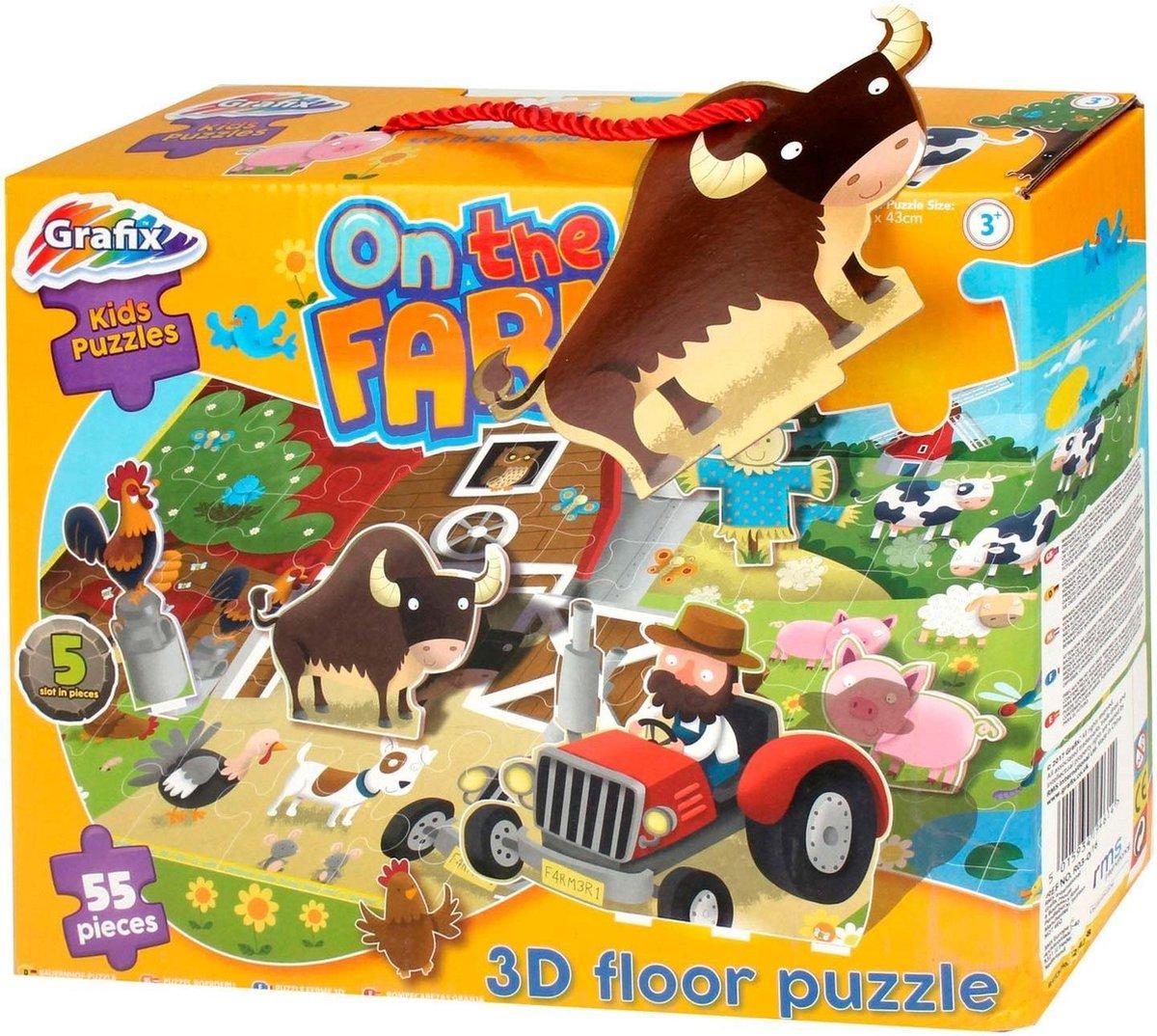 Vloerpuzzel - Boerderij - 3D puzzel - 55 stukjes - Puzzel - Kinderen