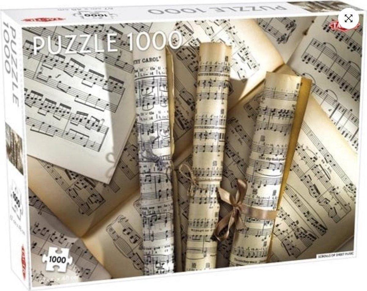 Puzzel 1000 stukjes - Bladmuziek kopen