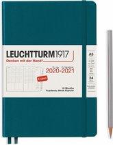 Leuchtturm1917 A5 Medium Academic Week Planner 2020/2021 (18 mnds) hardcover Pacific Green