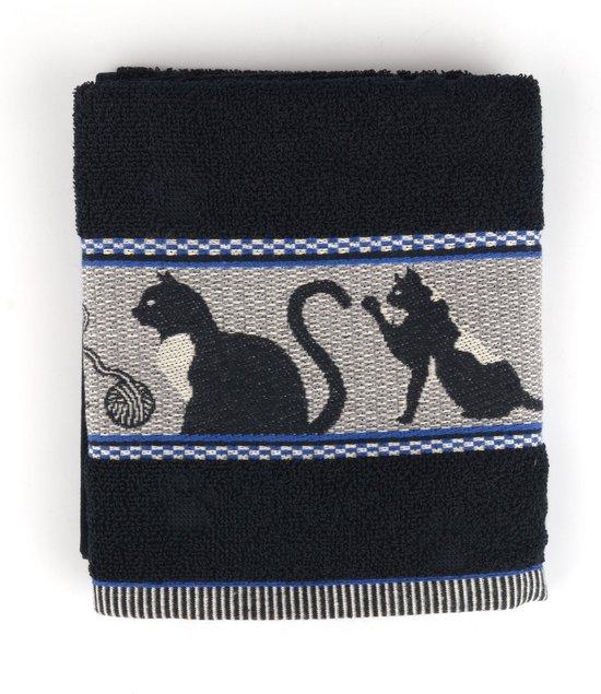 Keukendoek Bunzlau Castle Cats 53x60cm, zwart - 6 pack