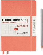 Leuchtturm1917 A5 Medium Academic Week Planner 2020/2021 (18 mnds) hardcover Bellini