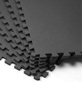 Zwembadtegels - 4 + 2 GRATIS (6 stuks, +/- 1m2)  - Rubber ondertegels zwart - bescherming tegels - vloertegels - ondervloer - puzzel mat - 40CM X 40CM - ondergrond - zwembad tegels - fitness - zwembad