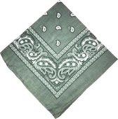 Bandana Paisley grijs - 100% katoen - grey - Cotton - zakdoek - hoofdband - sjaaltje - accessoire - carnaval