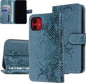 UNIQ Accessory iPhone 11 Groen Slangenleer Booktype hoesje