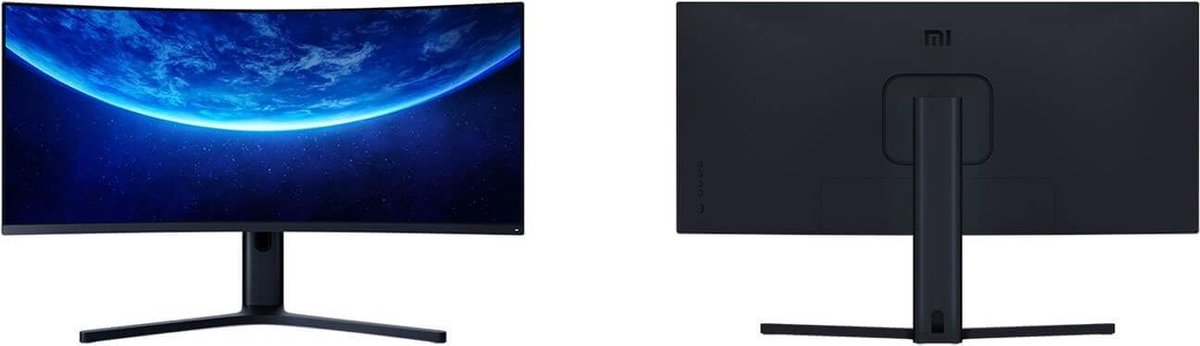 Original XIAOMI Curved Gaming Monitor 34-Inch 21:9 Bring Fish Screen 144Hz High Refresh Rate 1500R Curvature WQHD 3440*1440 Resolution 121% sRGB Wide Color Gamut Free-Sync Technology Display - Black kopen