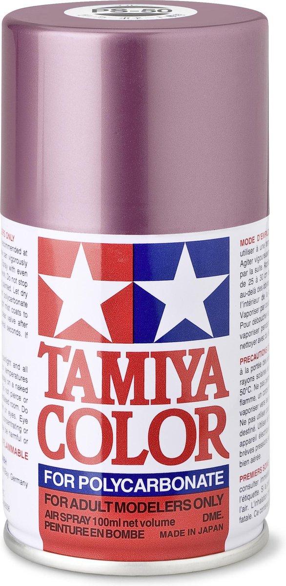 TAMIYA PS-50 Fonkel-roze/aluminium (spuitbus 100ml)