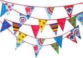 Stoffen slinger vlaggenlijn verjaardag Vrolijk  (11 meter, 22 vlaggen)
