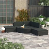 Chill Lounge Set - Tuin Set - Tuinmeubels - 5 Persoons - Tuin Zetel - Zwart