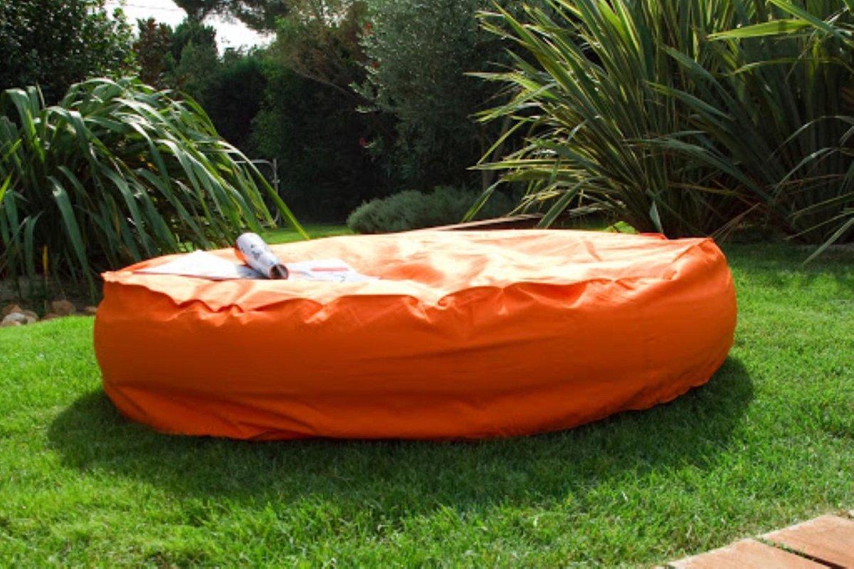 Wink Air Island Opblaasbaar rond Kussen 138x15cm Oranje
