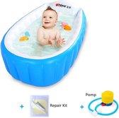 Opblaasbaar Badje - Babybadje - Kinder Badkuip - Buitenbad - Baby Zwembad - Opvouwbaar Bad - Kinderbadje - Inclusief Gratis Luchtpomp & Repair Kit - Blauw