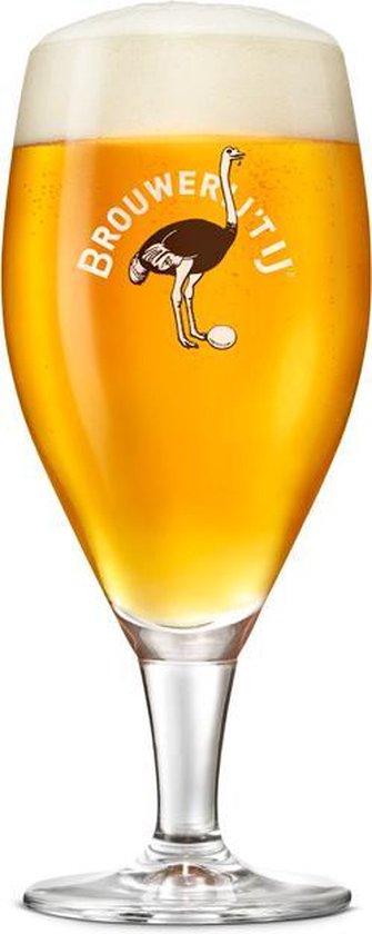 Brouwerij 't IJ speciaal bierglazen - 40cl - 6 stuks - voetglas