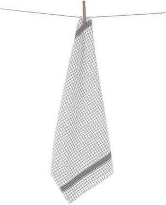 Clarysse Keukendoek Multifunctional Wit/Grijs 50x70cm 6 stuks