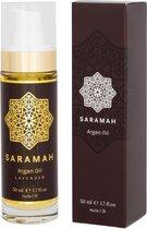 Saramah Arganolie & Lavendel - 50 ml - Voor haar, huid en gezicht - EU Bio Keurmerk - Koudgeperst