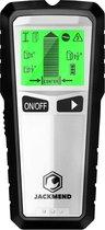 JACKMEND Professionele 5-in-1 Digitale Leidingzoeker - Multidetector Wall Scanner - Detectieapparaat voor Hout / Elektrische Bedradingen / Metalen Buizen en Leidingen - Muurscanner voor Hout / Metaal - Kabel Detector - Kabelzoeker - Leidingdetector