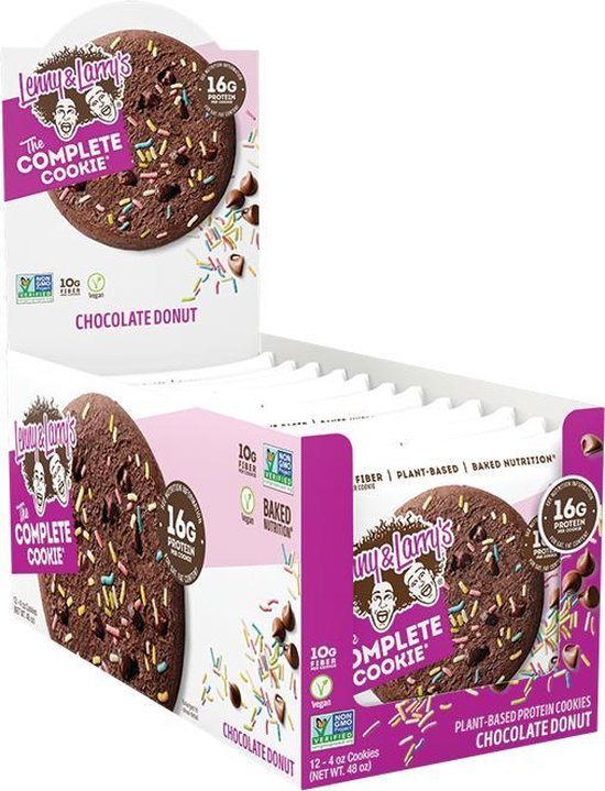 Lenny & Larry's The Complete Cookie - All Natural Vegan Protein Chocolate Donut