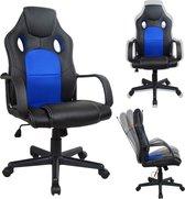 Gamestoel  Wouter - bureaustoel - racing gaming stijl - hoogte verstelbaar - zwart blauw