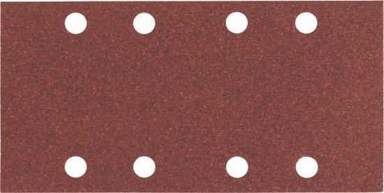 Bosch 10-delige schuurbladenset 93 x 186 mm, exp wood+paint - korrel 80
