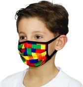Kinder Mondmaskers met Lego   Bricks print