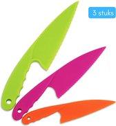 Kiddikutter set van 3 stuks- kindermes - kindermessen - mes kind - mes kinderen - mes voor kinderen - kinder koksmes - kindermesje