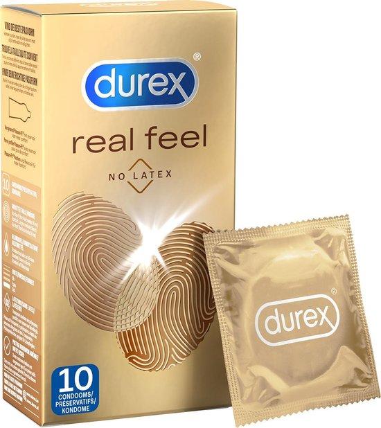 Durex Real Feeling Latex Vrij Condooms - 10 stuks