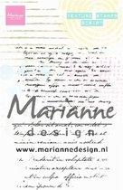 Marianne Design • Texture clear stamps script