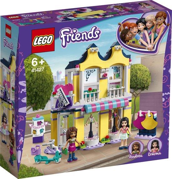 LEGO® Friends Emma's modewinkel bouwspeelgoed voor kinderen 41427. Speelset bevat minipoppetjes van modeontwerpers (343 onderdelen)