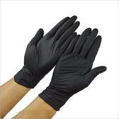 Nitril Handschoenen -Zwart - maat: M - 100 stuks
