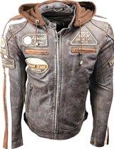 Urban Leather Fifty Eight Leren Motorjas Heren - Bruin - Maat M