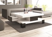 SALINA Salontafel - Wit/Zwart Hoogglans - Modern Design