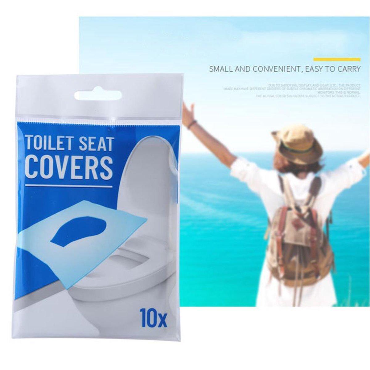 Hygienische Toilet bril covers papier  Doekjes voor de WC bril   10 stuks