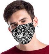 Zwart mondkapje van katoen - uitwasbaar & herbruikbaar. Geschikt voor OV