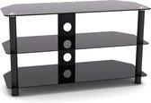 TV kast meubel - TV dressoir - audio meubel - 90 cm breed - zwart