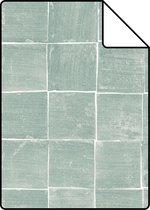 ESTAhome A4 staal van behang tegelmotief aqua groen - 148318 - 21 x 26 cm