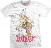 ASTERIX & OBELIX - T-Shirt - Running Boy VINTAGE - White (M)