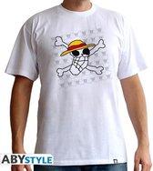ONE PIECE - T-Shirt Basic Homme Skull Dessin De Luffy (XXL)