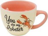 mok met vorm - Friends: You Are My Lobster - keramisch