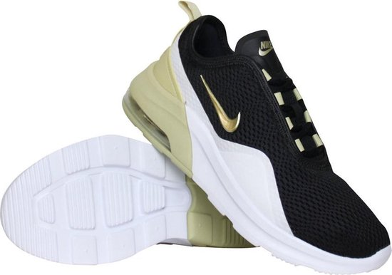 Nike Air Max Motion 2 sneakers dames zwart/wit/goud