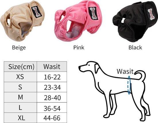 Loopsheidbroekje - zwart - Maat M - Hondenbroekje - luier voor teef - loopsheid - ongesteldheid - wasbaar