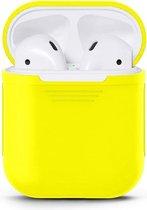 Airpods Silicone Case Cover Hoesje geschikt voor Apple Airpods 1 / 2 - Geel
