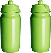 2 x Tacx Shiva Bidon - 500 ml - Groen - Drinkbus