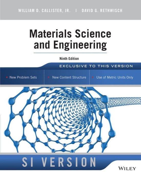 Boek cover Materials Science and Engineering van William D. Callister (Paperback)