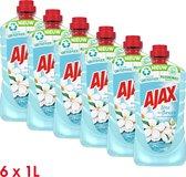 Ajax Allesreiniger Fête des Fleurs Jasmijn 6 x 1L - Voordeelverpakking