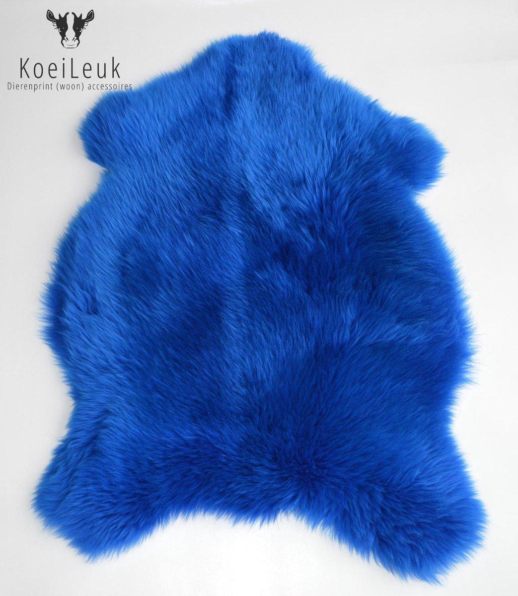 Schapenvacht blauw kopen