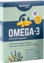 Apolooks® Vegan Omega-3 Algenolie | Hoge dosering EPA&DHA |60 capsules