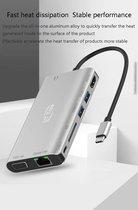 Sounix 8 in 1 USB C HUB - USB C naar HDMI 4K@30hz+VGA+USB3.0*2+PD+1000M LAN+SD+3.5mm audio