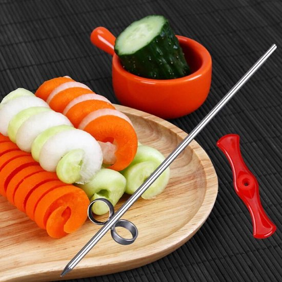 Spiraal Snijder voor Groente en Fruit - Spiral Cutter - Groentesnijder - Fruitsnijder - leuk voor bij het barbequen of gourmetten - 2 + 1 Gratis!